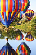 Hot Air Balloon Prints - Colorful Balloons Fill the Frame Print by Carol Groenen
