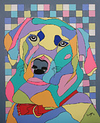 Inge Lewis Prints - Colorful BEAR Print by Inge Lewis