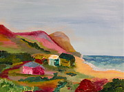 Cambria Paintings - Colorful Cambria  by David  Sulsh