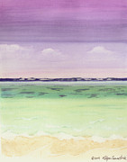 Beach Scene Painting Originals - Colorful Caribbean Seas by Robyn Saunders