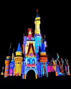 Orlando Magic Photos - Colorful Castle by Benjamin Yeager