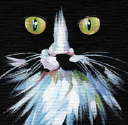 Beautiful Cat Art - Colorful Cat by Natasha Denger