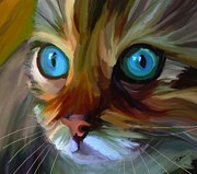 Feline Paintings - Colorful Cat by Patti Siehien