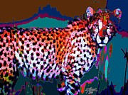 Wildcats Paintings - Colorful Cheetah by Elinor Mavor
