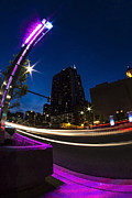 Sven Brogren Prints - Colorful Chicago night scene Print by Sven Brogren