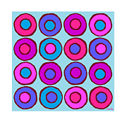 Sandy Bumblebee Metal Prints - Colorful Circles 1 Metal Print by Sandy Bumblebee
