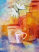 Coffee Paintings - Colorful Coffee by Lutz Baar