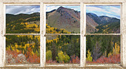 Office Space Metal Prints - Colorful Colorado Rustic Window View Metal Print by James Bo Insogna