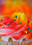Frosting Framed Prints - Colorful Cup Cake Framed Print by Darren Fisher