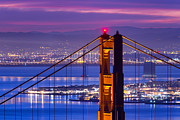 Bay Bridge Art - Colorful Dawn - San Francisco by David Yu