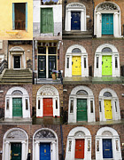 Patricia Hofmeester Metal Prints - Colorful doors collage Metal Print by Patricia Hofmeester