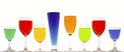 Drinks Posters - Colorful Drinks Poster by Diane Diederich