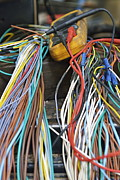 Colorful Electrical Wires And A Voltmeter Print by Sami Sarkis