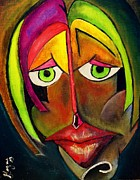 Mad Face Posters - Colorful Emotion Poster by Jorge De Jesus