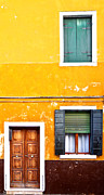 Burano Prints - Colorful Entry Print by Susan  Schmitz