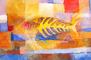 Sealife Mixed Media - Colorful Fish by Lutz Baar