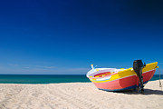 Small Boat Prints - Colorful Fishing Boat Algarve Portugal Print by Christopher and Amanda Elwell