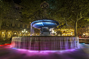 Sven Brogren - Colorful fountain at...