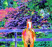 Arabian Pastels Prints - Colorful Horse Print by Annie Zeno
