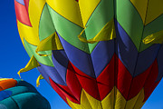 Flags Flying Prints - Colorful hot air balloon Print by Garry Gay