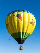 Flying Photos - Colorful Hot Air Balloon over Vermont by Edward Fielding