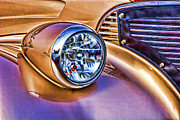 Headlamp Framed Prints - Colorful Hotrod Framed Print by Carol Leigh