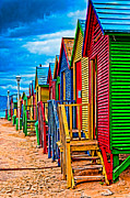 Colorful Houses At St James Print by Cliff C Morris Jr