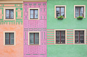 Adobe Buildings Prints - Colorful houses Print by Michal Bednarek