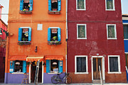 Colorful Houses Prints - Colorful Houses of Italy Print by Kim Fearheiley