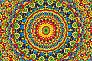 Candy Digital Art Originals - Colorful Kaleidoscope by William Ragan