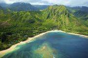 Colorful Kauai Coastline Print by Kicka Witte