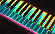 Music Art - Colorful Keys by Bob Orsillo