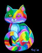 Colorful Kitten Print by Nick Gustafson