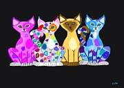 Nick Gustafson - Colorful Kitties