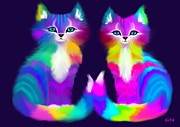 Nick Gustafson - Colorful Kitty Couple