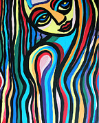 Cynthia Snyder Prints - Colorful Lady  Print by Cynthia Snyder