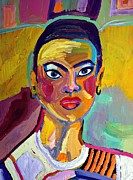 African-american Mixed Media Posters - Colorful Lady Poster by Janet Ashworth