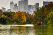 New York City Skyline Photos - Colorful magic in Central Park New York City Skyline by Silvio Ligutti