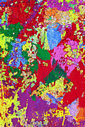 Mess Photo Posters - Colorful messy painted wall Poster by Garry Gay