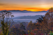 Asheville Posters - Colorful Morning Poster by Deborah Scannell