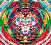 Artstic Posters - Colorful Mosaic Poster by Alec Drake