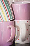 Breakable Posters - Colorful mugs Poster by Tom Gowanlock