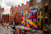 New York New York Prints - Colorful Mural Chelsea New York City Print by Amy Cicconi