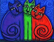 Cynthia Snyder - Colorful Neon Cat Trio 1
