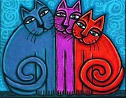 Cynthia Snyder - Colorful Neon Cat Trio 2