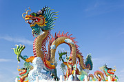 Tosporn Preede - Colorful Of Dragon Statue