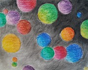 Psychedelic Pastels - Colorful Orbs by Thomasina Durkay