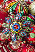 Basket Prints - Colorful ornaments Print by Garry Gay