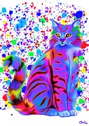 Nick Gustafson - Colorful Painted Tiger Cat