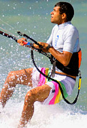 Parasail Posters - Colorful Parasailing Poster by Purcell Pictures